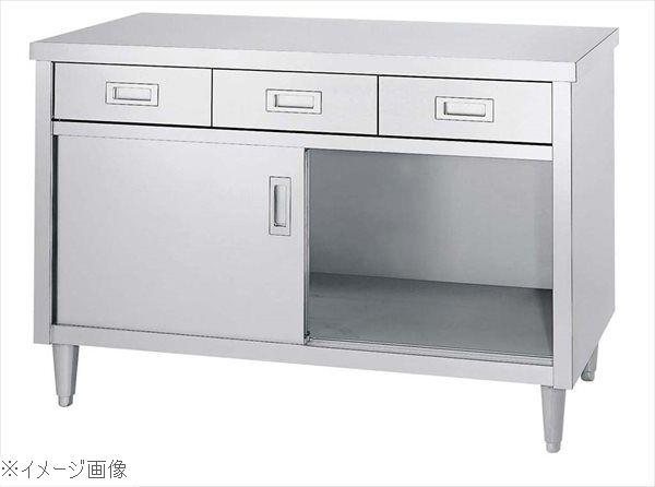 キャビネット作業台 ED型(片面/引出・ステンレス戸)ED-12060