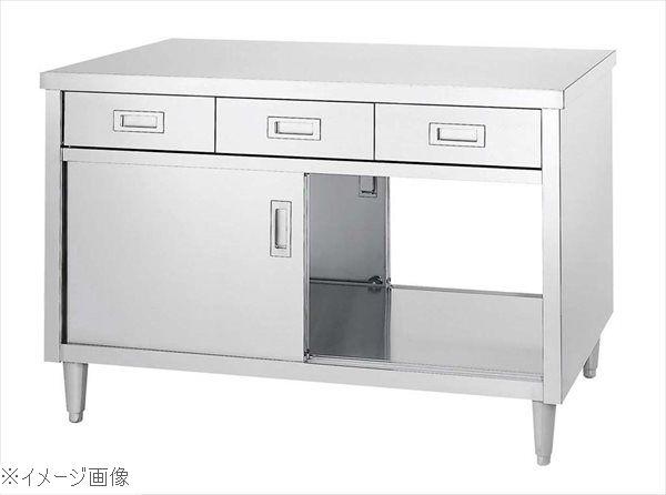 キャビネット作業台 EDW型(両面/引出・ステンレス戸)EDW-15075