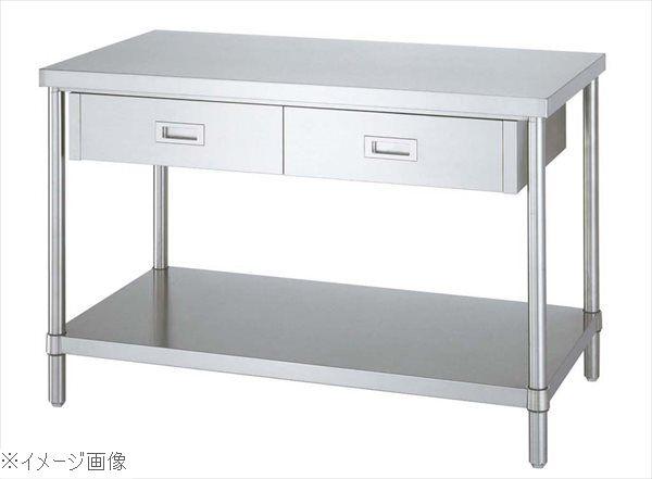 パイプ脚 作業台 ベタ棚仕様 片面引出付 WDB-12060