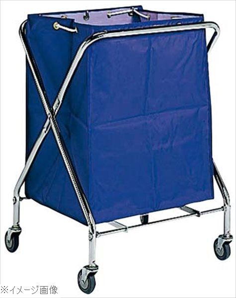 BM ダストカー 袋付(折りたたみ式)大 紺 236L