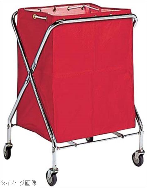 BM ダストカー 袋付(折りたたみ式)小 赤 132L