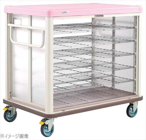 エレクター COO常温配膳車 シャッター式 ベーシックタイプ JCSB36SP シュガーピンク