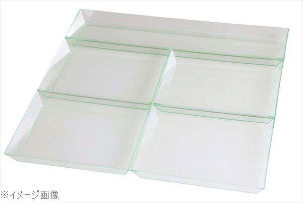 ソリア 5コンパートメントプレート(25入)クリアグリーン PS30590