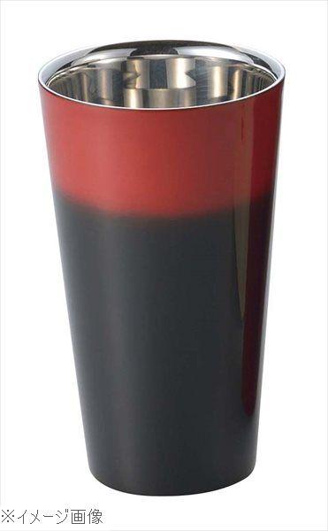 漆磨 2重構造ストレートカップ 270ml 黒彩 SCW-L601