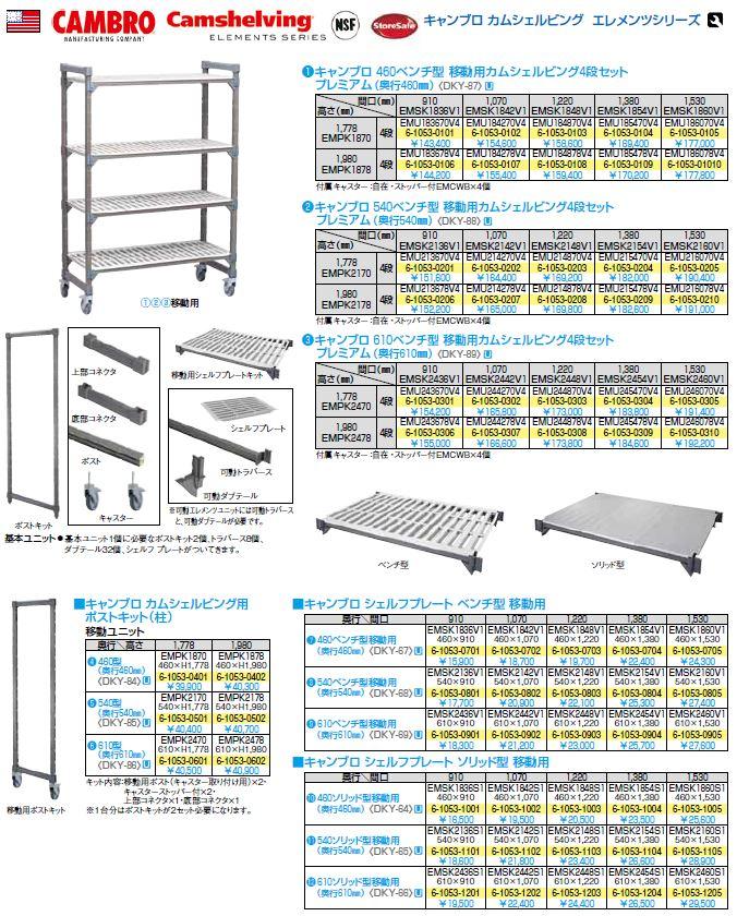 キャンブロ社 【業務用】 540移動カムシェルビング用ポストキット CPMPK2175 <DKY4304>