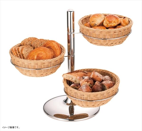 ユキワ PPラタン製 パンかごスタンド 丸型
