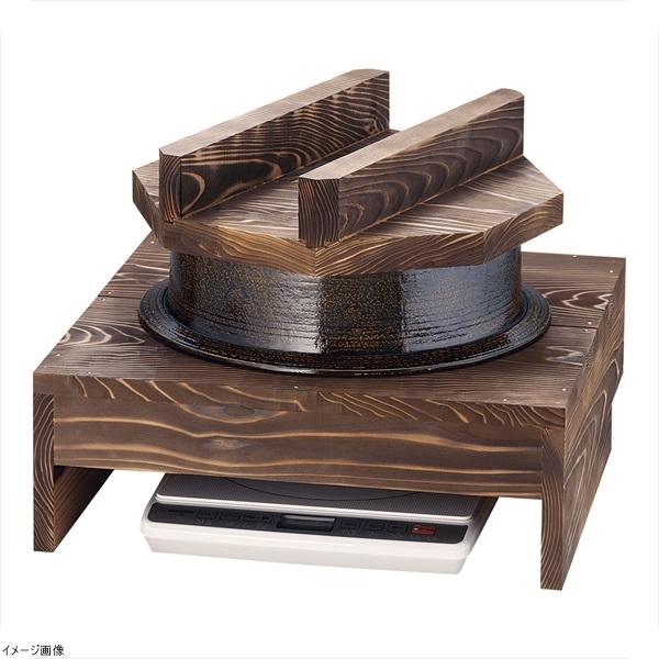 電磁用アルミ製1升釜・ハカマセット (焼杉木蓋付)
