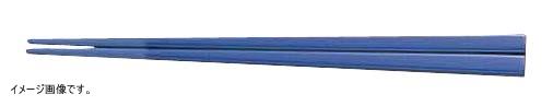 メラミンすべり止め付角箸(50膳入) 22.5cm 青