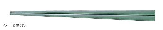 メラミンすべり止め付角箸(50膳入) 22.5cm 緑