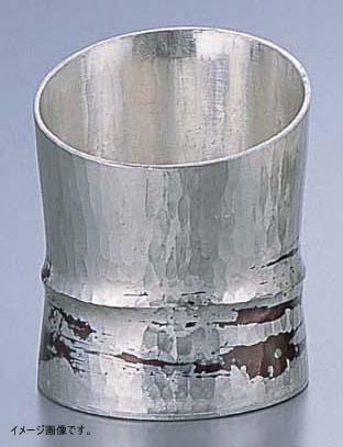 銅錫被 刷毛目竹形1ツ節ぐい呑 斜カット SG005 80cc