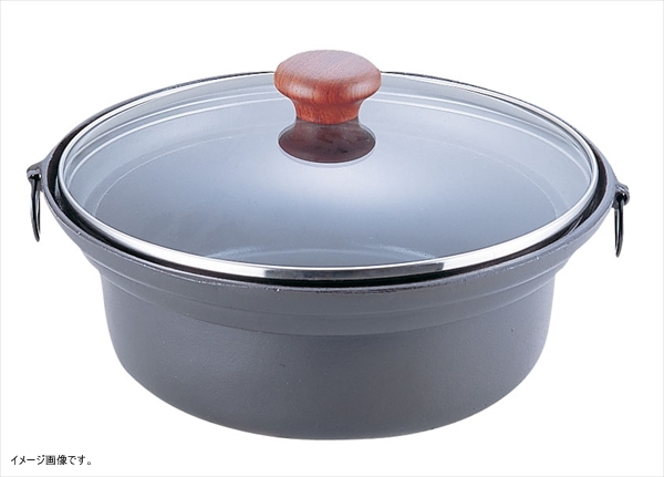 TKG アルミ合金 ガラス蓋しゃぶ鍋 QSY66