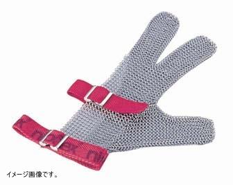 ニロフレックス メッシュ手袋3本指 M M3[赤]