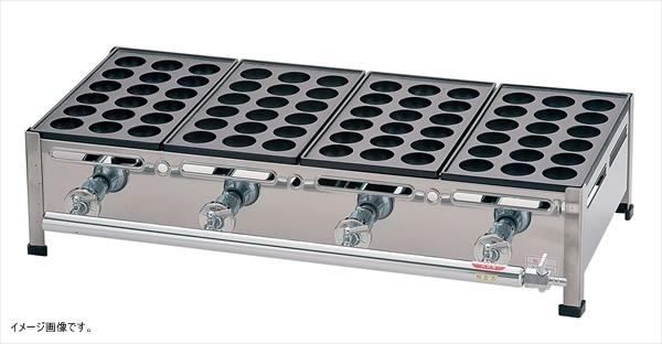 荒木金属製作所 【業務用】 関西式たこ焼器(18穴) 4枚掛 13A <GTK7811>