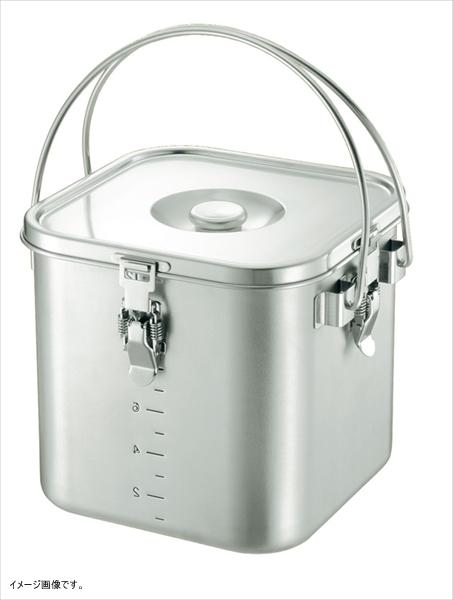 仔犬印 K IH対応 19-0 角型給食缶(目盛付)22cm