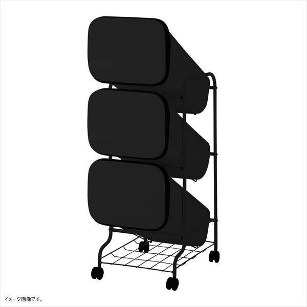 リス ゴミ箱 smooth スタンドダストボックス3P スリム 20L×3 ブラック