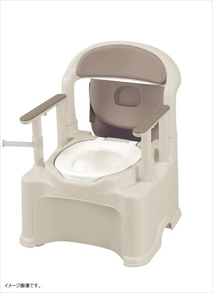 リッチェル ポータブルトイレ きらく PS2型 普通便座タイプ グレー 47530