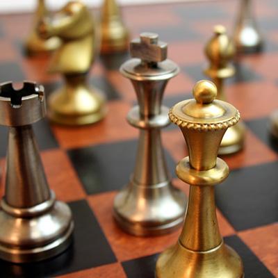 ※送料無料!※【真鍮製 チェス駒】ITAL FAMA社 ブラス製チェス駒 スタントン