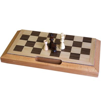 【持ち歩きに便利な持ち手付き】木製折りたたみ式チェスセット CS200-16