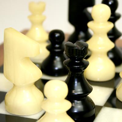 ※送料無料!※【シャープな色合いと静かな存在感】アラバスターチェスセット ブラック×ホワイト NS11