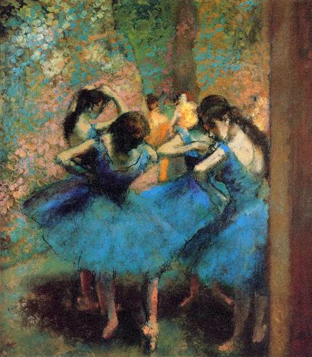 【美術品クラスの美しさを】ジクレ版画 ドガ 「青い踊り子たち」