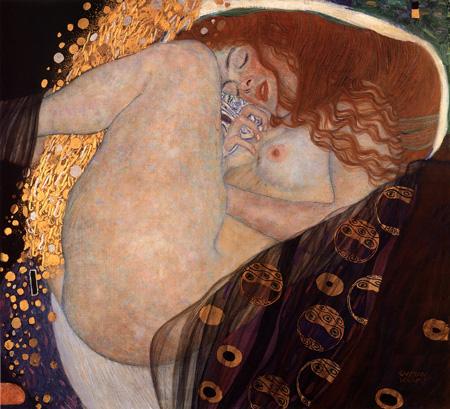 【美術品クラスの美しさ】もちろん額付き・送料無料ですクリムト 「ダナエ」