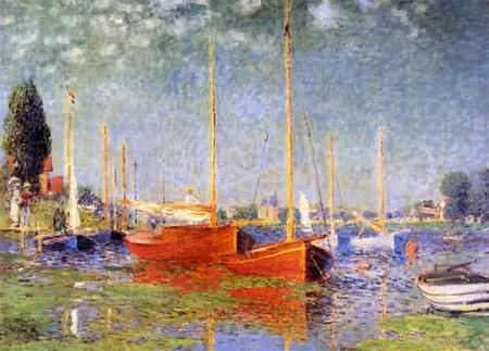 【パリの職人が再現するモネの光】モネ 「赤いボート アルジャントゥイユ」