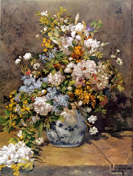 【美術品クラスの美しさを】ルノワール 「春の花束」