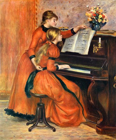 【一本一本の筆の流れまで完全再現】ルノワール 「ピアノに寄る少女たち」