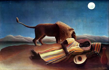 【心を打つ詩的な月夜】絵画 ルソー 「眠るジプシー女」