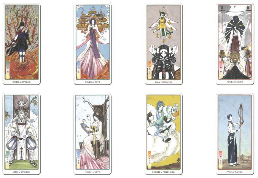 Japanese myth tarot pole full deck set two