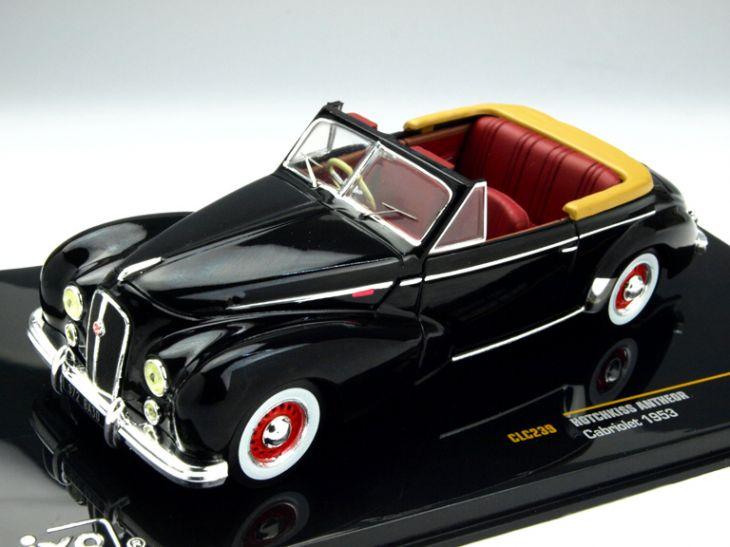ミニカー ixo / イクソ オチキス ANTHEOR カブリオレ 1953 ブラック/レッドインテリア