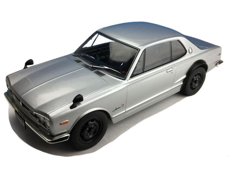 ミニカー First18 / ファースト18 日産 スカイライン GT-R ( KPGC10 ) シルバー
