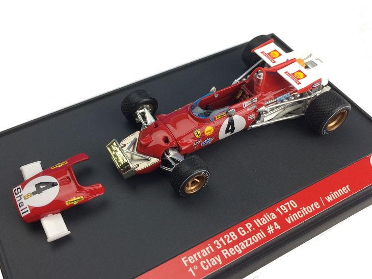 ミニカー BRUMM / ブルム フェラーリ 312B 70 イタリア GP 優勝 # 4 Clay Regazzon Ferrari