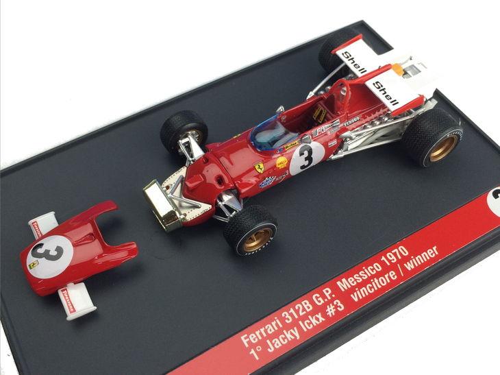 ミニカー BRUMM / ブルム フェラーリ 312B 70 メキシコ GP 優勝 # 3 Jacky Ickx Ferrari