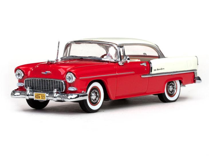 ミニカー VITESSE / ビテス シボレー ベルエアー ハードトップ 1955 アイボリー / レッド