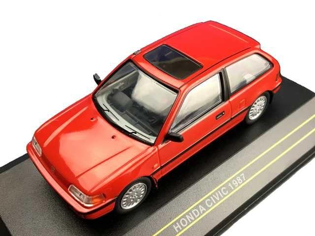 ミニカー First 43 / ファースト 43 ホンダ シビック 1987 レッド HONDA