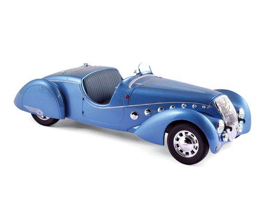ミニカー NOREV / ノレブ プジョー 302 Darl'Mat ロードスター 1937 メタリックブルー