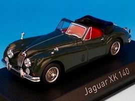 ミニカー NOREV / ノレブ ジャガー XK140 カブリオレ 1957 ダークメタリックグレー