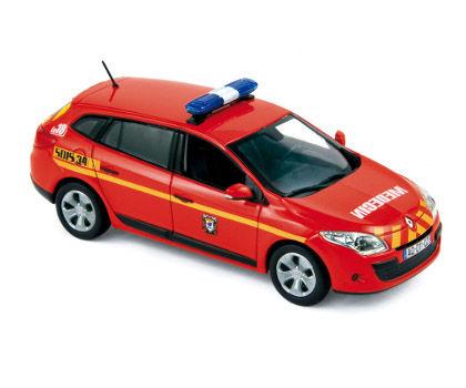 ミニカー NOREV / ノレブ ルノー メガーヌ エステート 11 消防車