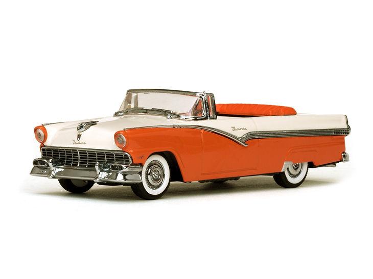 ミニカー VITESSE / ビテス 1956年 フォード フェアレーン オープン コンバーチブル ( オレンジ / ホワイト )