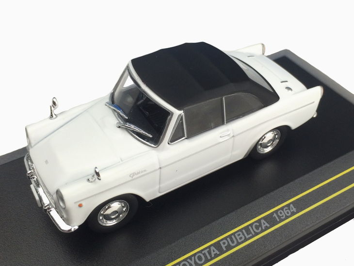 往年の名車の ミニカー ミニチュア モデルカー をオレの自慢の コレクション に コレクター アイテム ギフト プレゼント 安値 1964 幌付き にも最適です ファースト トヨタ First コンバーチブル TOYOTA 人気ブランド多数対象 ホワイト パブリカ 43