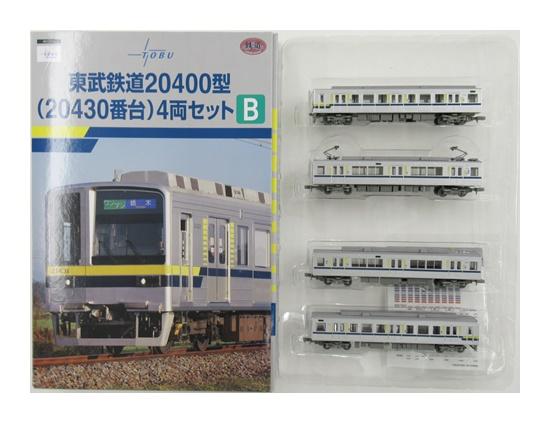 【中古】ニューホビー/トミーテック  鉄道コレクション(K524~K527)   東武鉄道20400型(20430番台) 4両セットB 【A'】 外箱傷み  微細な塗装ムラはご容赦下さい。