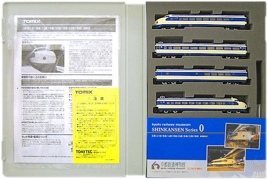 【中古】Nゲージ/TOMIX 93175 トレインボックス 京都鉄道博物館 2016年4月開館記念 0系新幹線 ・21形1号車 ・16形1号車 ・35形1号車 ・22形1号車 4両セット【A'】※4両共、モーターなしの車両です ※紙製スリーブに傷み