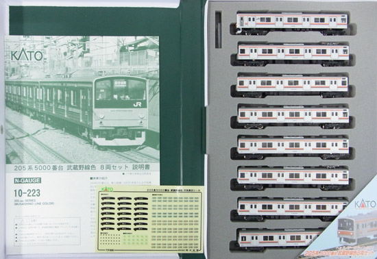 【中古】Nゲージ/KATO 10-223 205系5000番台(武蔵野線色)8両セット【A】