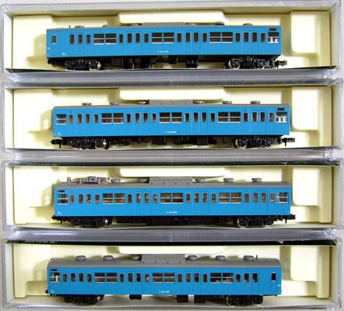 【中古】Nゲージ/KATO 10-311 新103系 ブルー 4両セット 2002年ロット【A'】※外箱傷み
