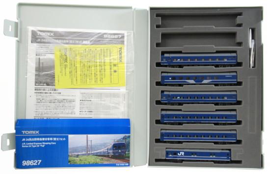 【中古】Nゲージ/TOMIX 98627 JR 24系25形特急寝台客車(富士) 6両セット【A'】外スリーブ傷み