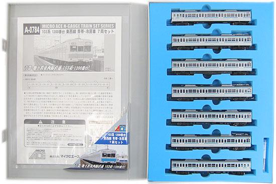 【中古】Nゲージ/マイクロエース A0784 103系1200番台 東西線 青帯・冷房車 7両セット【A】