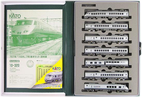 【中古】Nゲージ/KATO 10-320 787系 「つばめ」 7両基本セット 2001年ロット【A'】※ケース汚れ・スリーブ傷み