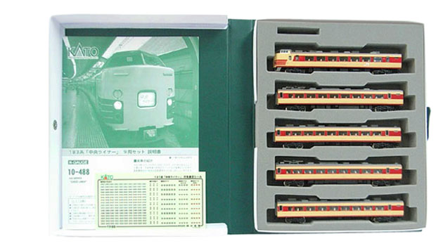 【中古】Nゲージ/KATO 10-488 183系「中央ライナー」9両セット【A'】スリーブ傷み