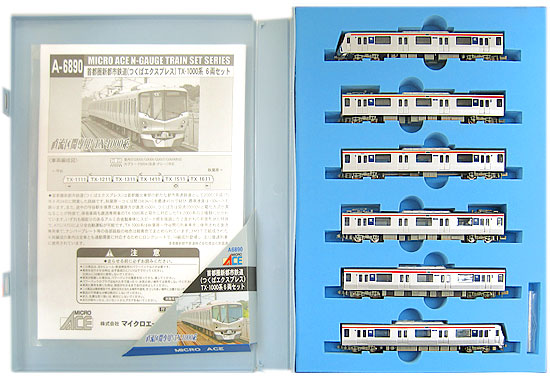 【中古】Nゲージ/マイクロエース A6890 首都圏新都市鉄道(つくばエクスプレス) TX-1000系 6両セット【A】